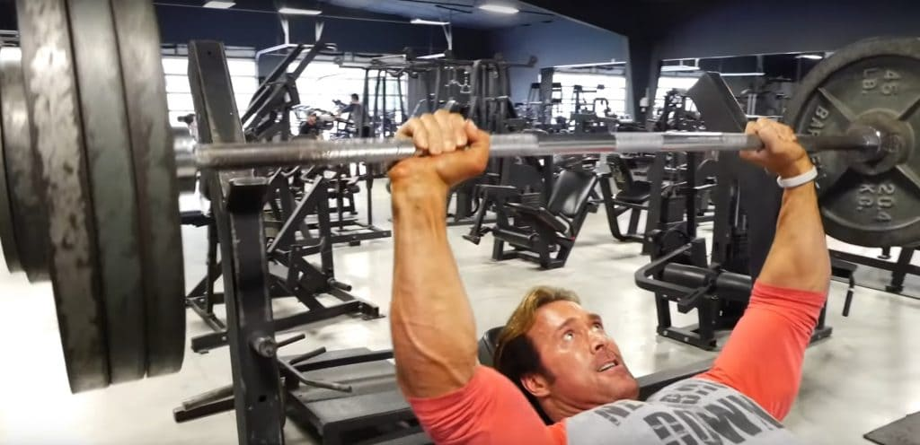 Mike O'Hearn Lifting Weights