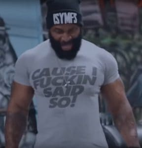 Ripped CT Fletcher Flexing