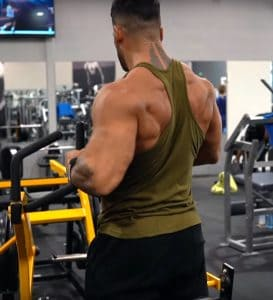Sergi Constance Lifting Weights At The Gym