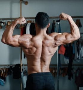 Christian Guzman Fitness Back Pose