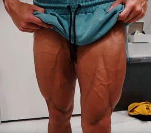 Christian Guzman Flexing Legs