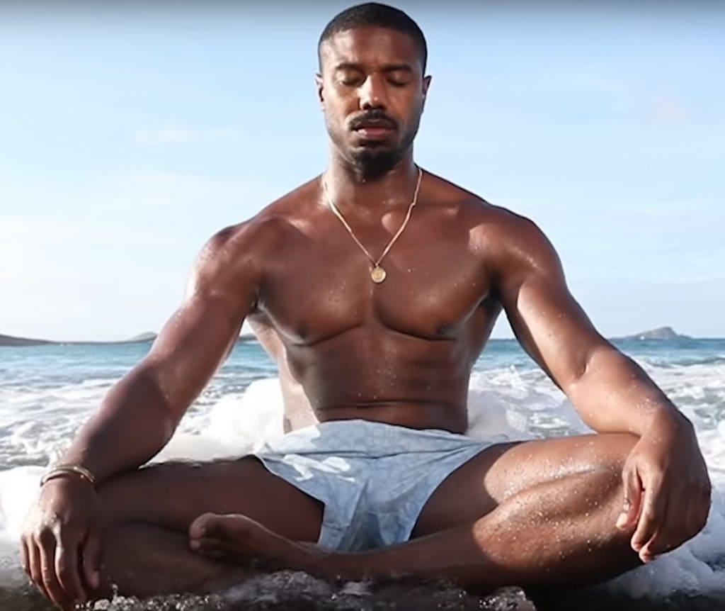Meditation With Michael B. Jordan In The Water